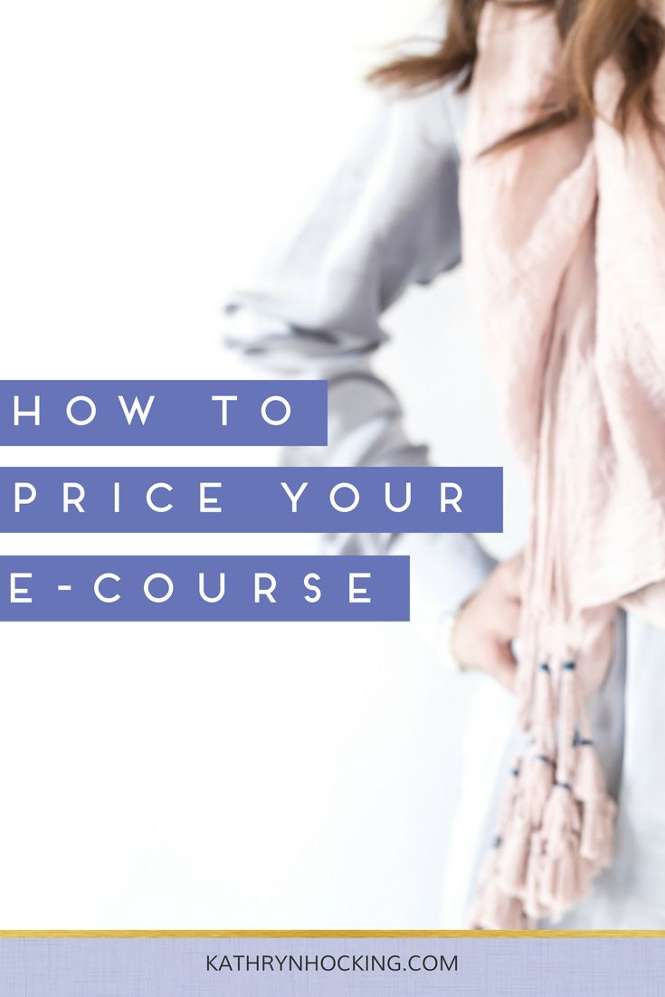 How to price your e-Course - Kathryn Hocking
