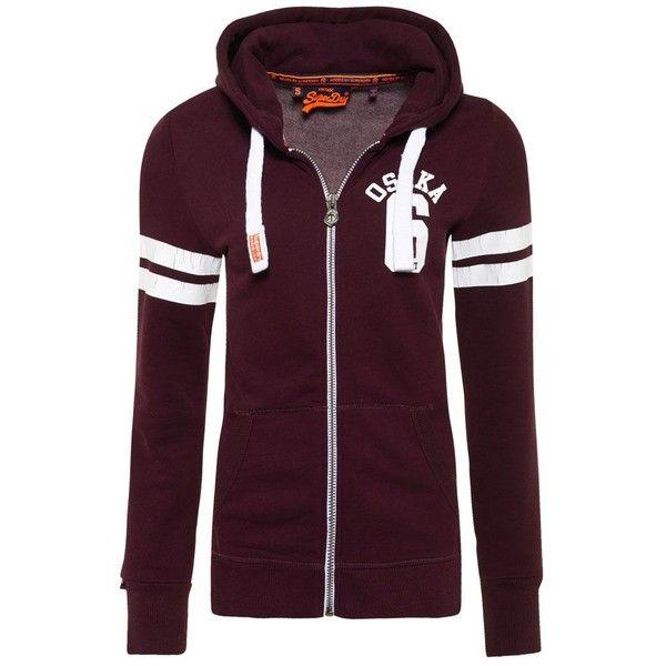 Superdry Osaka Sport Zip Hoodie ($69) ❤ liked on Polyvore featuring tops, hoodies, red, women, red hoodie, red hooded sweatshirt, cotton hoodies, hooded zipper sweatshirts and purple hooded sweatshirt
