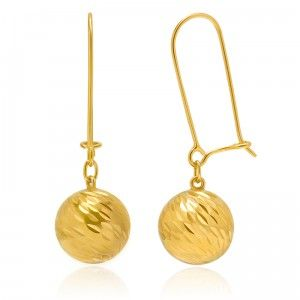 Original Gracious Ball Earrings - MettaGems | Natural Gemstone Jewelry, Direct from manufacturers  18K Solid Gold
