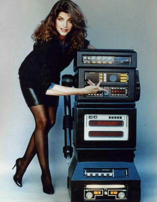 Vintage Geek Culture — vintagegeekculture:   Kirstie Alley and a robot...