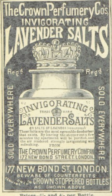 Free printable of public domain image of vintage lavender salt advertisement! #printable #free #vintage