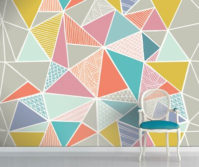Sorry monochrome, although you look great in structured shapes the opportunity to use colour in geometric patterns is just too good to miss!