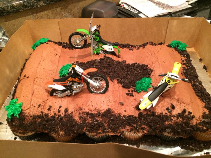 Dirt Bike Track Cupcake Cake Sweet Treat Creations Made