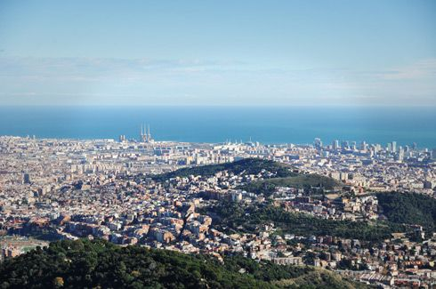 Views from Mirador Torre Collserola - Barcelona, Spain