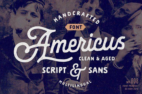 Americus Script & Sans by Andrey Sharonov on @creativemarket