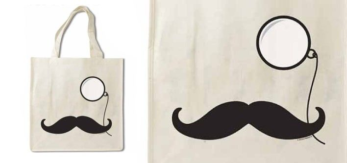 Movember Moustache Bamboo Bag for just $10! - Tax Included