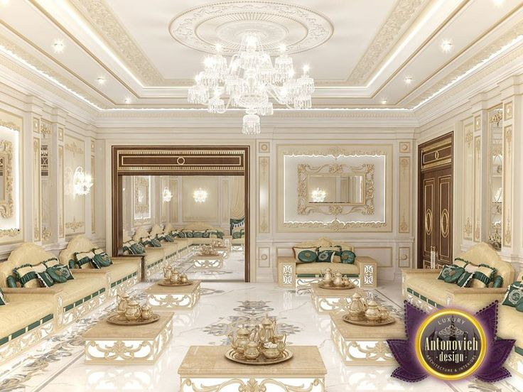 Arabic majlis interior design from luxury antonovich for Arabic living room decoration