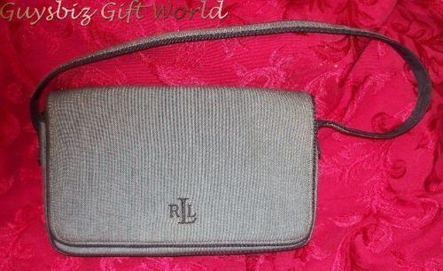 SALE Ladies RALPH LAUREN Black Linen Designer Handbag SALE $37.62 freeship