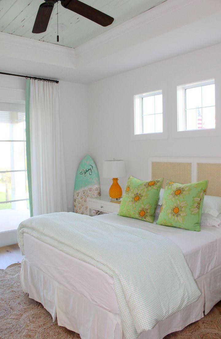 Bright Beach House Bedroom By Kara Hebert Interiors