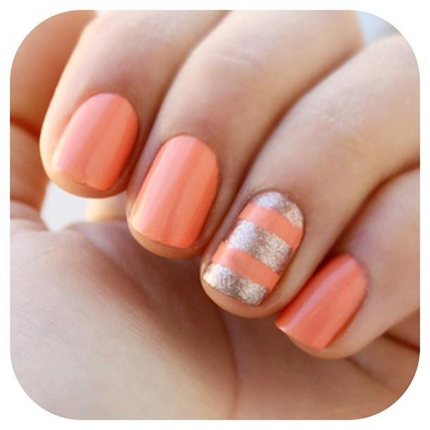 Fashion nails. Re-pin if you like. Via Inweddingdress.com #nails