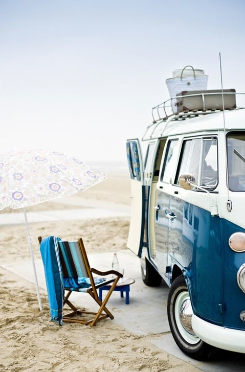 Beach Campervan; I dream of owning one......