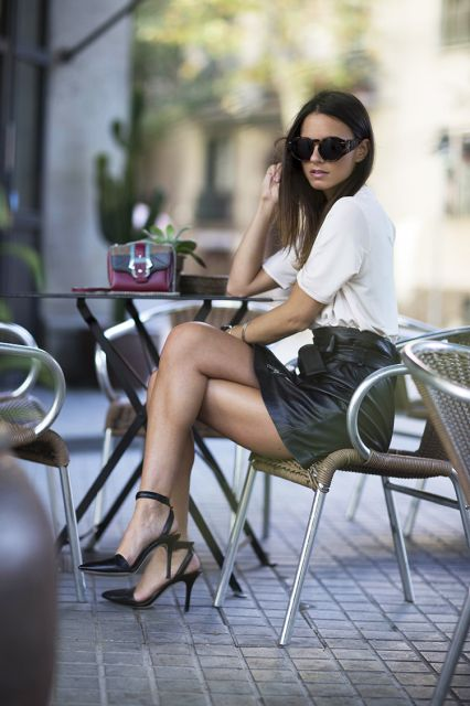 black-leather-skirt-white-tee-ankle-strap-heels-pointy-toe-heels-via-fashionvibe-426x640.jpg (426×640)
