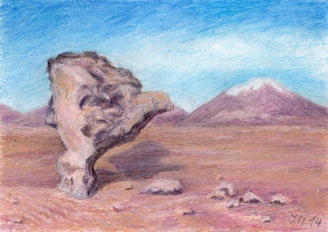 On Atacama, pastel by Jana Haasová