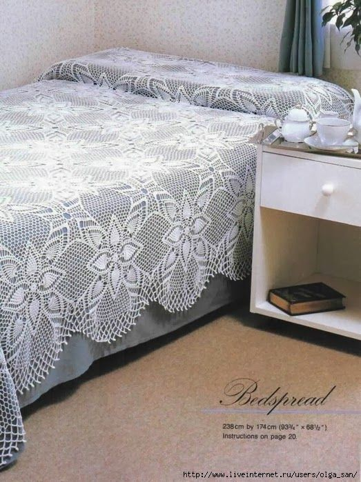 Crochet vintage style bedspread ♥LCB-MRS♥ with diagram