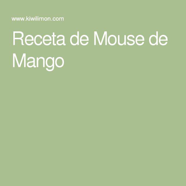 Receta de Mouse de Mango