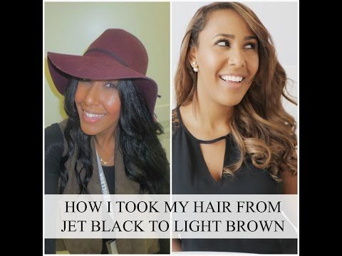 How I Took My Hair From Jet Black, To Light Brown — NICOLE FIONA SERRAO