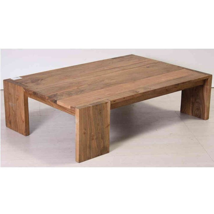 Tavolo etnico basso legno naturale - Etnico Outlet mobili etnici