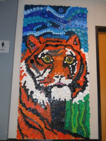 Bottle Cap Art Mural | Bottle Cap Projects: One Done, One To Go!!