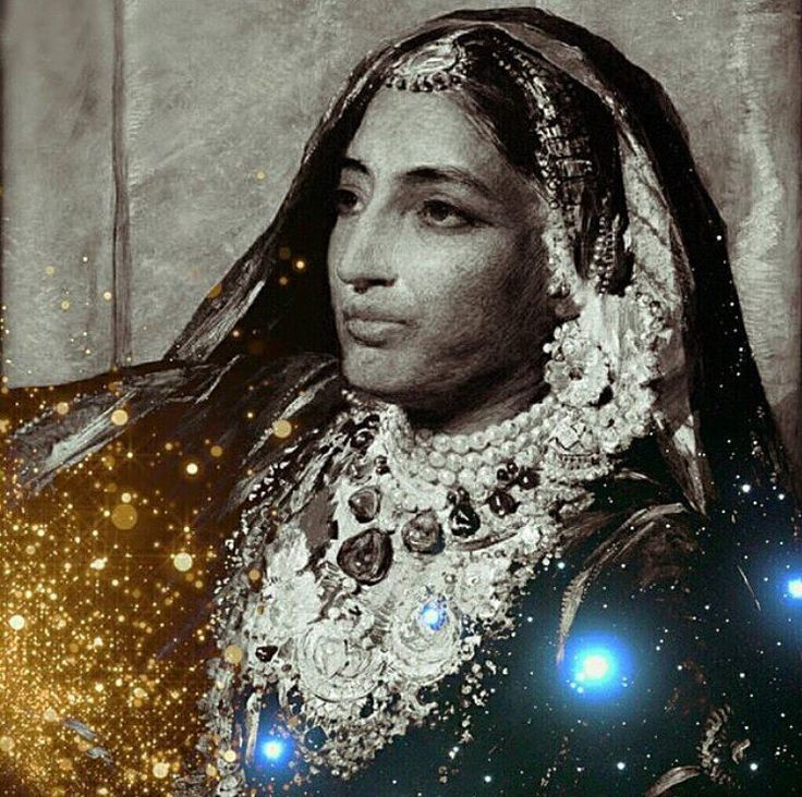 """""""Last Queen of Punjab"""" Maharani Jind Kaur (1817 63) """"Married to Maharaja Ranjit Singh in 1835 Jind Kaur was regent of the Sikh Empire and a freedom fighter in the struggle to oust the British from the subcontinent. To say that the Maharani was a thorn in the side of the East India Company would have been an understatement. She was born into humble origins the daughter of the royal kennel keeper at the Sikh court in Lahore. Her ravishing beauty soon caught the attention of the Maharaja Ranjit"""