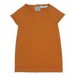 Paade jurkje oranje met grijze streep