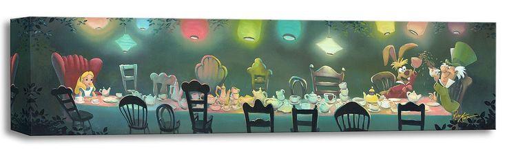 Alice in Wonderland - A Mad Tea Party - Gallery Wrapped - Rob Kaz - World-Wide-Art.com - #disneyfineart #robkaz #disneytreasuresoncanvas #gallerywrapped #aliceinwonderland
