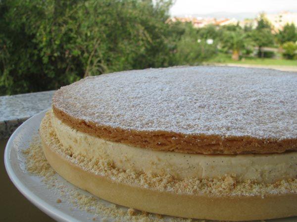 Torta della Nonna di Maurizio Santin (frolla classica, bretone, pds e cremoso alla vaniglia)