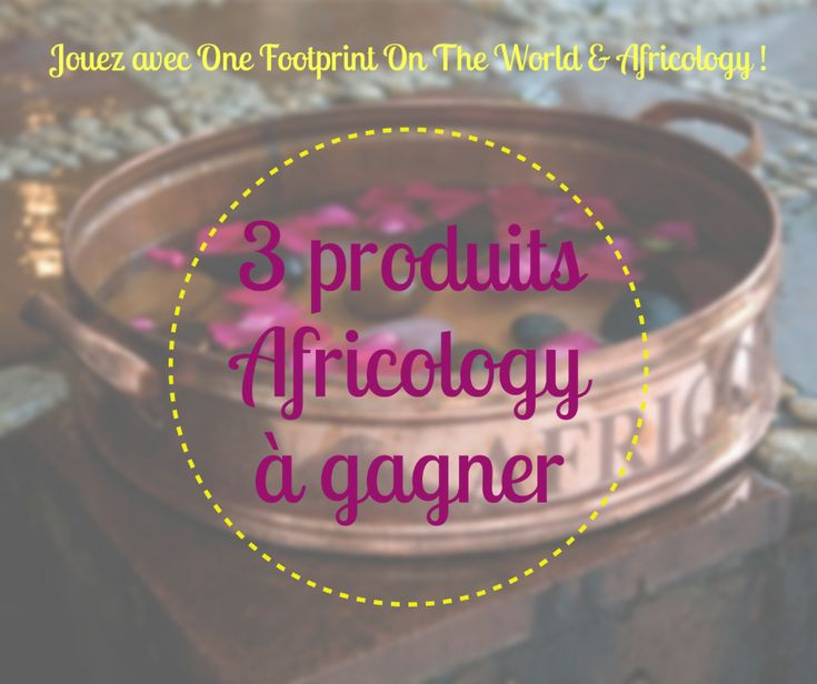 Jeu-concours avec Africology et onefootprintontheworld.com !   Tentez de gagner des produits Africology, la marque sud-africaine de cosmétiques naturels et écologiques.  http://onefootprintontheworld.com/produits-africology-a-gagner/ BONNE CHANCE :-) #concours #africology #jeuconcours