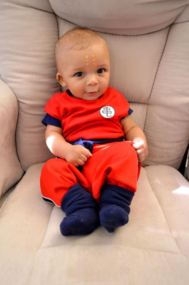 9 Super Cute Kids in Dragon Ball Z Cosplay: Cute Baby Cosplaying as Krillin from Dragon Ball Z