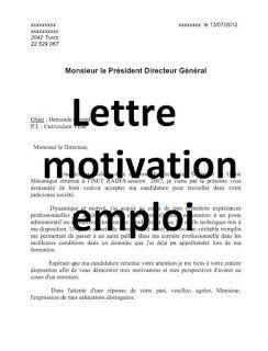 Lettre de motivation emploi avec CV word doc