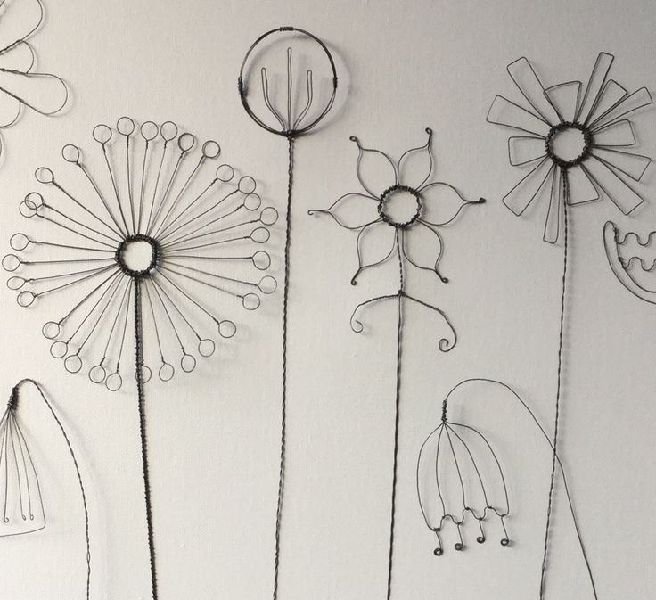 Handgeformtes Drahtblumendetail #Detail #Blume #G…