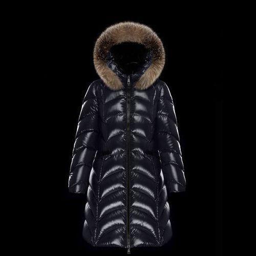 MONCLER Down Jackets Fur Blended Fabrics Plain Long Elegant Style Down Jackets 7