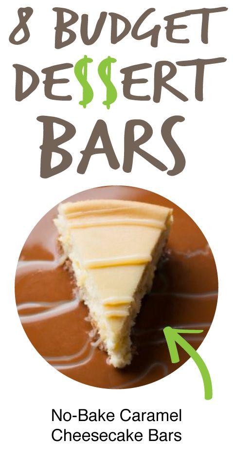 8 Budget Dessert Bars: No-Bake Caramel Cheesecake Bars