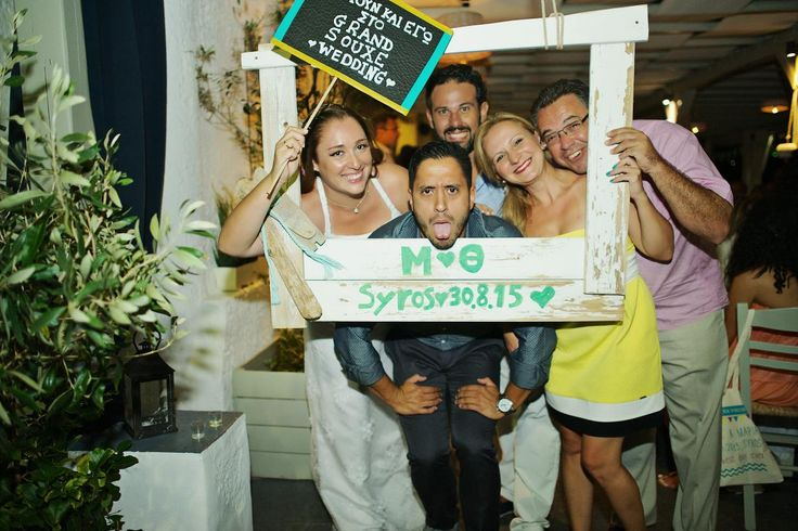Grand 'souxe' Wedding, open air photobooth, wedding, white, banners,syros | lafete