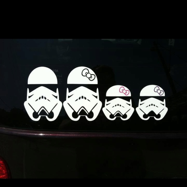 Storm trooper family car decal