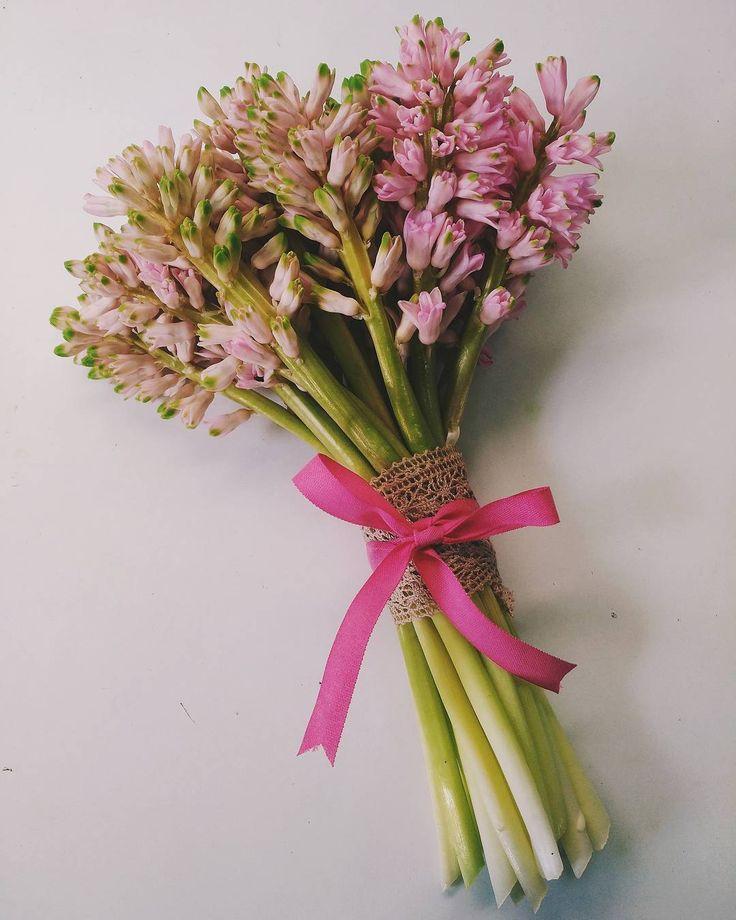 Hyacinth Wedding Bouquet- a fresh bouquet for a happy bride.