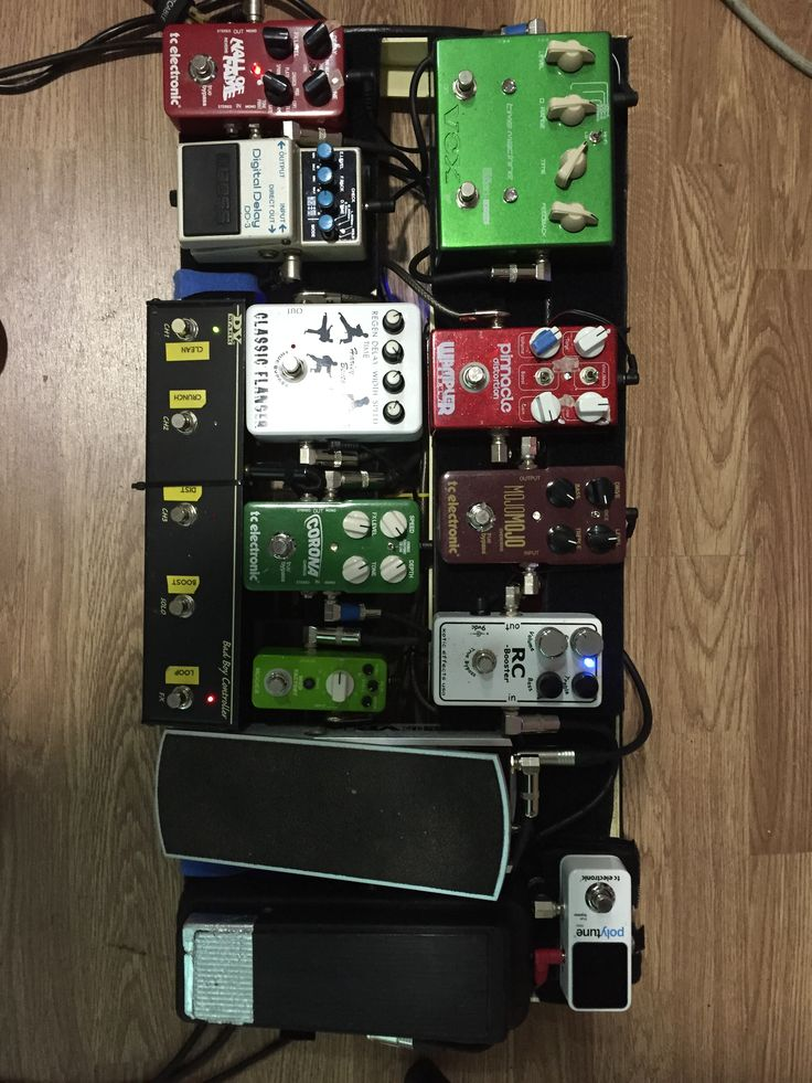 Pedalboard 2015 xotic rc booster dunlop cry baby pinnacle brown distorion ernie ball volume pedal tc electronics corona chorus mojo mojo overdrive hall of fame boss digi delay vox time machine joe satriani