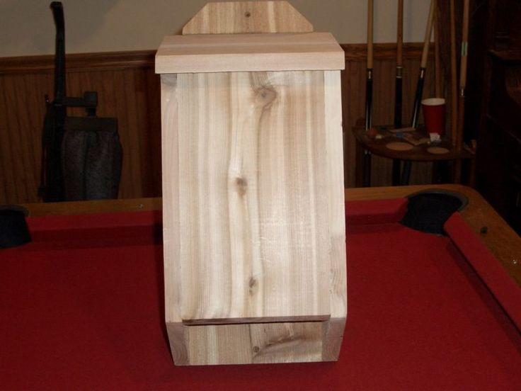 """Natural Cedar Bat House 3 Chamber Back Yard Camp Lake Mosquito Trap Zika Virus FOR SALE • CAD 32.81 • See Photos! Money Back Guarantee. THIS SALE IS FOR A CEDAR BAT HOUSE BOARDS ARE GLUED & NAILED TOGETHER CAULKED ON TO EDGE FOR LEAKS 3 CHAMBER'S 2- 3/4"""" AND 1-1"""" SIZE IS 5 1/2"""" 222140370746"""