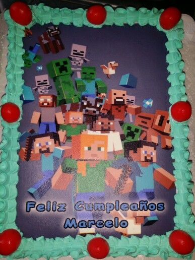 torta 30 personas minecraft
