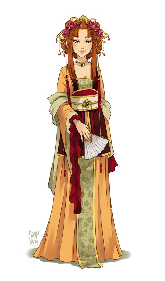"Japanese Girl. Stunning illustration / Ragazza giapponese. Fantastica illustrazione - Art by meago on deviantART, ""Miisuu"""