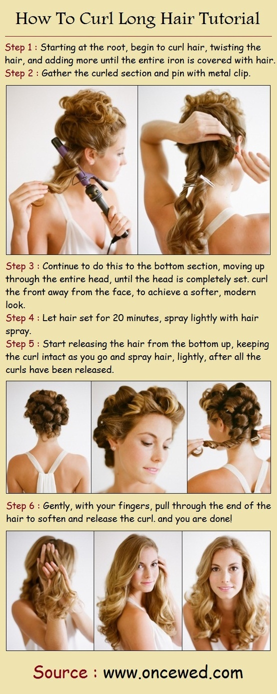 How To Curl Long Hair Tutorial
