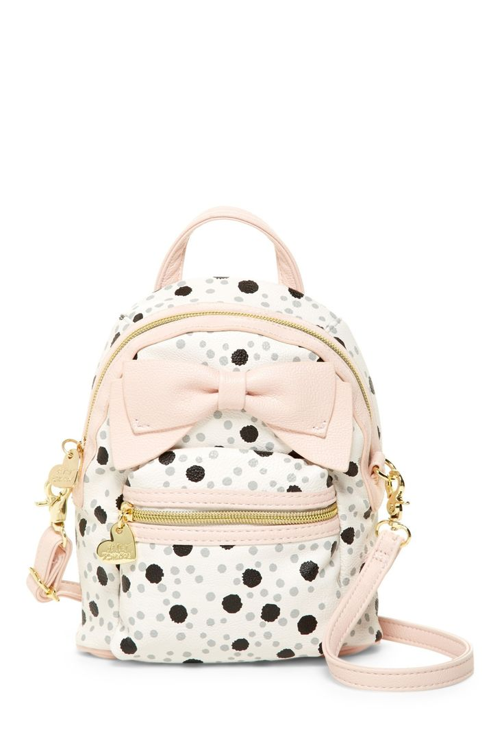 Betsey Johnson Backpack Crossbody Dots
