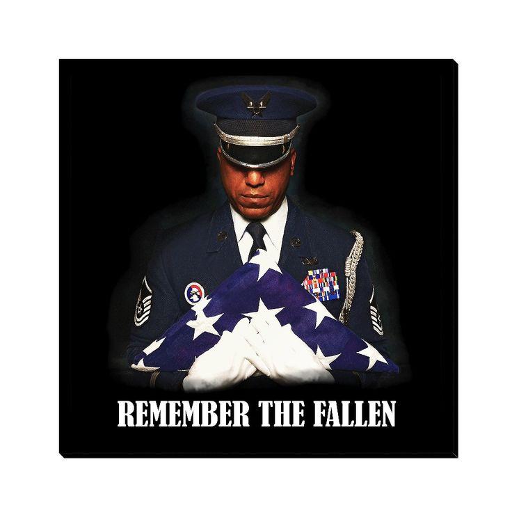 """Remember The Fallen - Canvas Art 10""""x10"""""""
