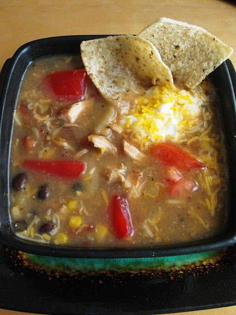 Summer Crock Pot Meals {ditch the oven}: Chicken Tortilla Soup, Crock Pots, Chilis, Chicken Tortillas Soups, Crockpot Recipes, Food Challenges, Saltbox Houses, Pots Recipes, Crockpot Tortillas