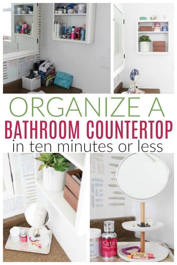 10 Minute Bathroom Countertop Organization Diy Passion Organize Bathroom Countertop Diy Bathroom Decor Diy Bathroom Design
