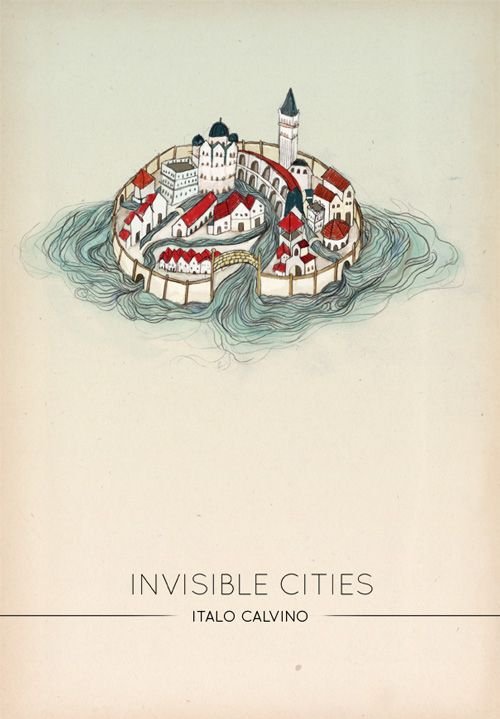 Invisible Cities (Italo Calvino) book cover design by Caitlin Russell