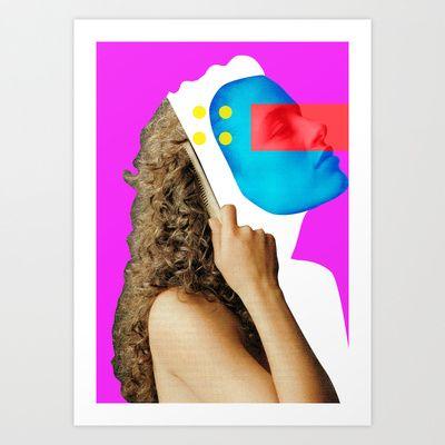 Crazy Woman · Madame Goldhaar Art Print by Marko Köppe - $19.99
