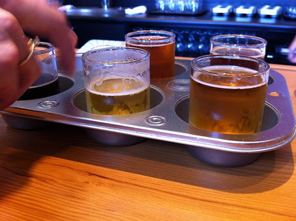 Muffin tray beer paddle