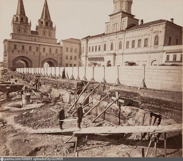 Начало строительства Исторического музея, 1875 год