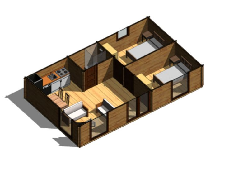 Plano 1 casa de madera heidi casas pinterest casa de madera planos y madera - Planos casas de madera ...