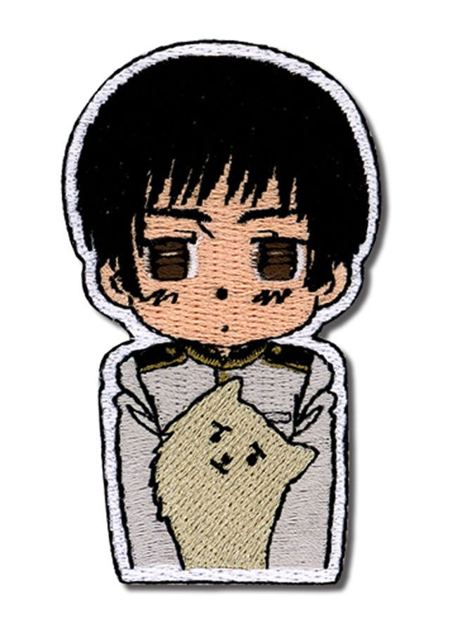 - Officially Licensed - Iron or sew it on - Approximately 3 inches tall x 1.5 inches wide - Great for Hetalia fans! - Made in China